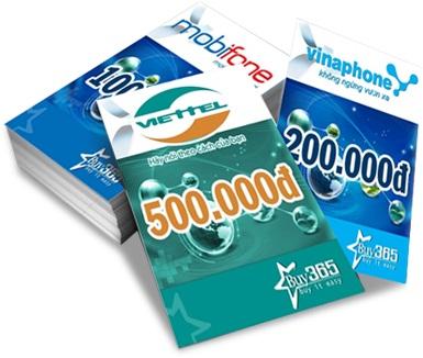 Các mệnh giá mua thẻ điện thoại tại banthe247.com