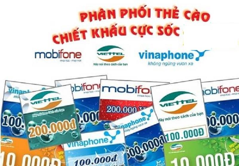 Thao tác thực hiện mua thẻ cào online chiết khấu cao