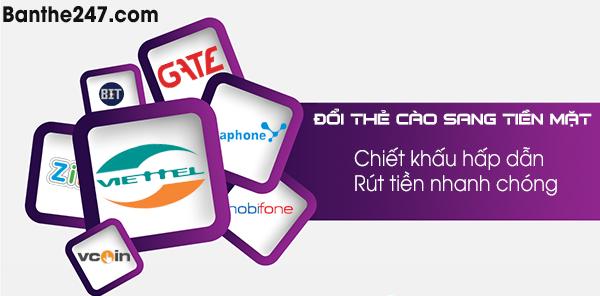 Mua thẻ cào trực tuyến tại Banthe247