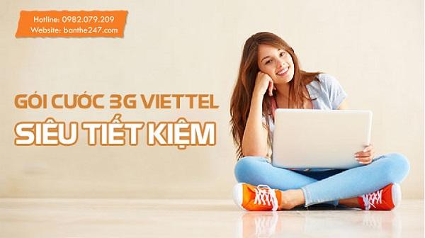 Gói cước 3G Viettel siêu tiết kiệm