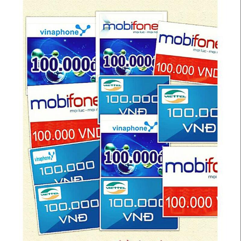 Hình thức thẻ cào mobifone