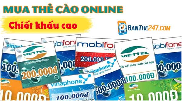 Lưu ý mua thẻ cào online tại banthe247.com
