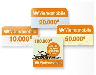 Các mệnh giá thẻ cào Vietnamobile