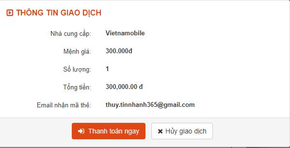 Mua thẻ điện thoại qua internet banking