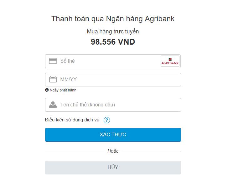 mua thẻ điện thoại qua agribank