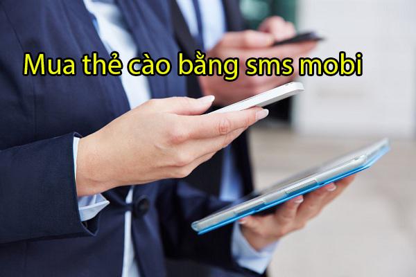 hướng dẫn mua thẻ cào bằng sms mobi