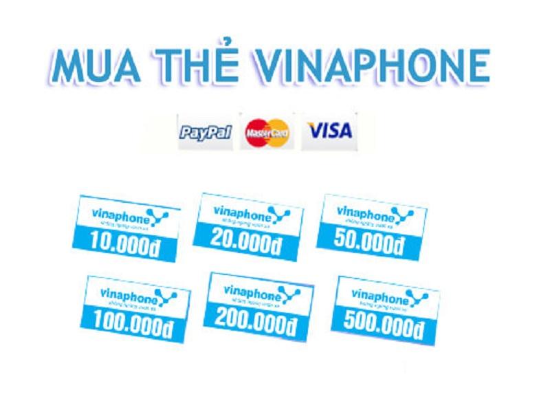 Các mệnh giá thẻ cào vinaphone trên thị trường