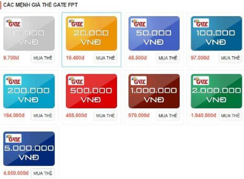Tìm hiểu chung về thị trường mua thẻ FPT gate chiết khấu 3,5%