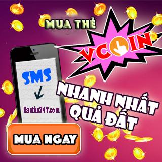 Hướng dẫn mua thẻ vcoin bằng sms viettel, mobifone, vinaphone rẻ nhất
