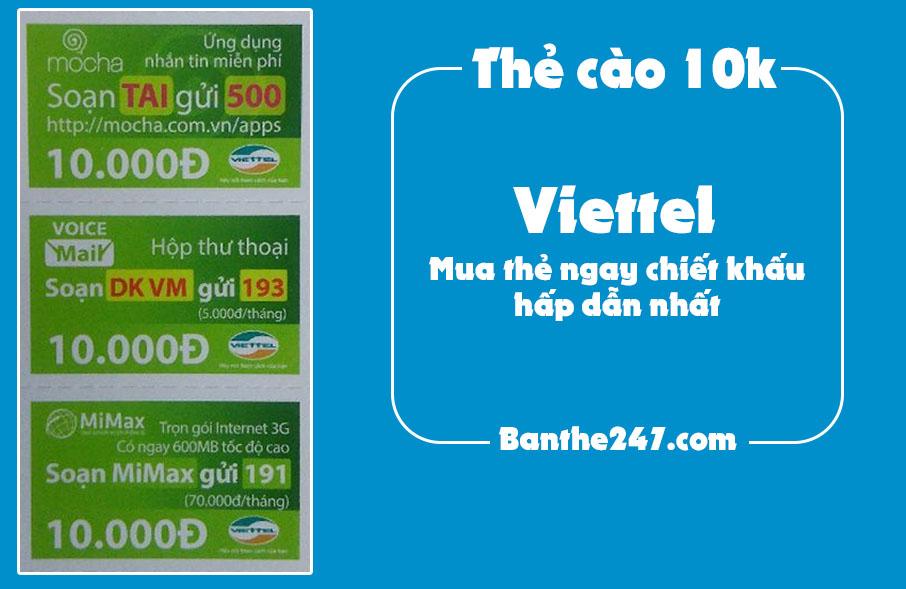 Cách mua thẻ viettel 10k phổ biến nhất trên thị trường