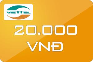 Mua thẻ Viettel 20k