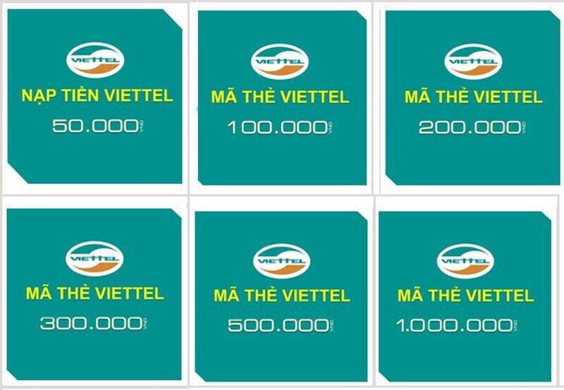Các loại thẻ viettel có thể mua thẻ viettel chiết khấu ưu đãi hấp dẫn