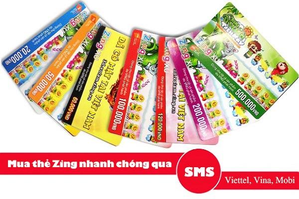 Hướng dẫn mua thẻ zing bằng sms siêu nhanh