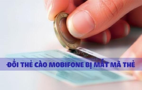 Thẻ cào mobifone bị mất số thì phải làm gì?