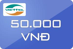 Thẻ Viettel 50k