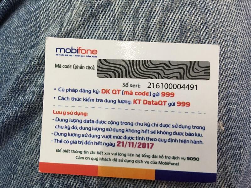 Tra cứu thông tin thẻ cào Mobifone